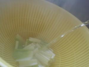 雪菜 湯通し