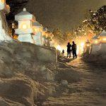 2月の置賜 上杉雪灯篭まつりプレ点灯