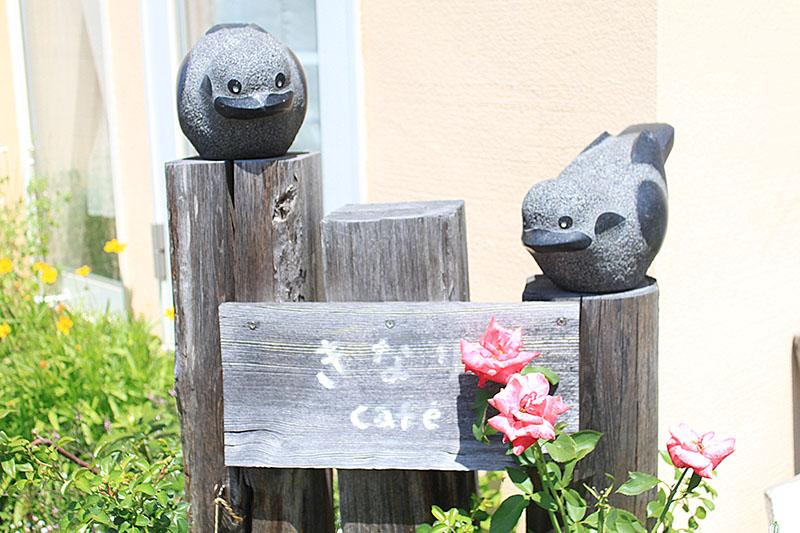 きなりcafeの小鳥の彫刻