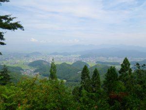 文殊山からみた高畠町方面