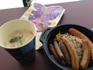 城史苑さんの遠山かぶ(おきたま伝統野菜)のパスタと高畠のファインさんのソーセージセット