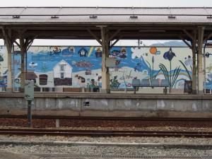 長井駅壁画