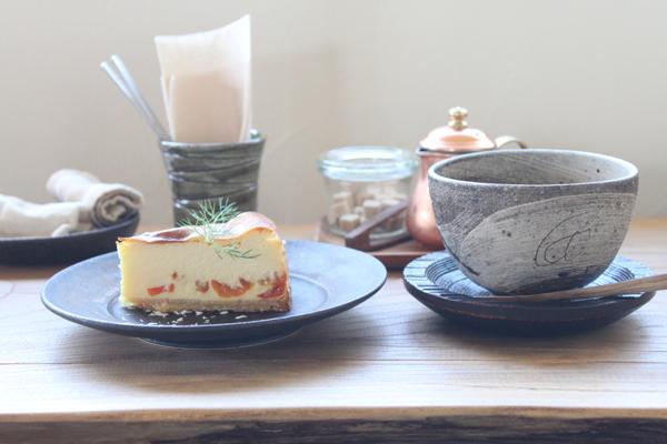 オーガニックコーヒーときんかん入りチーズケーキ