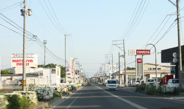 長井の街中