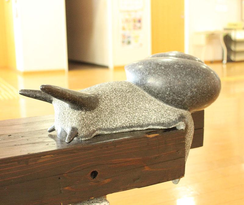 カタツムリの彫刻